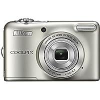 Nikon L30SL COOLPIX L30 Digital Camera, 5x Zoom, 20 Million Pixels, Battery Type, Silver