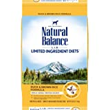 Natural Balance L.I.D. Limited Ingredient Diets Dry Dog Food, Duck & Brown Rice Formula, 26 Pounds