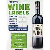 Neato Blank Wine Bottle Labels - 40 Pack - Vinyl, Water Resistant, for Ink Jet Printers