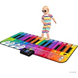 Play22 Floor Piano Mat Jumbo 6 Foot Musical Keyboard Playmat for Toddlers and Kids Rainbow Colorful Keyboard Playmat 71""