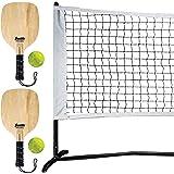 Franklin Sports Pickleball Starter Set - Half Court Size for Training - Includes Net, (2) Paddles, and (2) X-40 Pickleballs