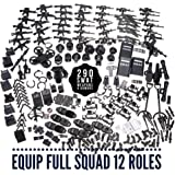 inFUNity Swat ミニフィギュア アーマー 武器銃 アクセサリーパック (290ピース) 12体 警察のミニフィギュアに適合