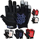 MRX BOXING & FITNESS Multicolored Sailing Gloves with Sticky Palm Grip for Men and Women, Short Finger or 2 Cut Finger Gloves