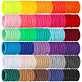 Isbasa 300pcs Baby Hair Ties - Elastic Hair Bands Ponytail Holder for Toddlers Infants, Small Seamless Soft Rubber Bands for
