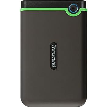 Transcend USB3.1 2.5インチ スリムポータブルHDD 耐衝撃 M3シリーズ アイロングレー 2TB 3年保証 TS2TSJ25M3S