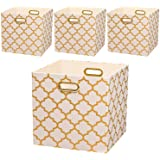 Posprica Large Storage Cubes,Collapsible Storage Bins Boxes Containers Drawers Organizer Baskets for Toy,Clothes,Laundry,13''