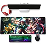 Large Mouse Pad for Demon Slayer - Non Slip Rubber Base Gaming Anime Mouse Pad for Computer   Kimetsu No Yaiba 11.8 X 31.5in