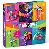 Craft-tastic – I Love Rainbows Craft Kit – Make 6 Colorful Arts & Crafts Projects – Includes Instructions in English & French