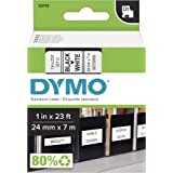 DYMO Standard D1 Labeling Tape for LabelManager Label Makers, Black print on White tape, 1'' W x 23' L, 1 cartridge (53713)