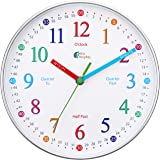 Wise Hedgehog Telling Time Teaching Clock, Silent Non Ticking Analog Battery Operated Learning Clock for Kids, Perfect Room &