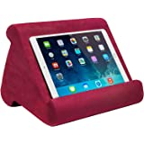Ontel Pillow Pad Multi-Angle Soft Tablet Stand Burgundy