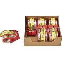 3M スコッチ ガムテープ 梱包テープ 軽く引き出せるタイプ 48mm×20m カッター付 6巻パック 145DN-AM
