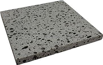 SUNNY BLUE 溶岩プレート 21 × 21 × 1.8 cm 天然 溶岩石 グリル 1枚