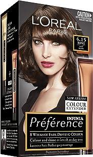 L'Oréal Paris Préférence Permanent Hair Colour - 4.15 Rome (Intense, Fade-Defying Colour)