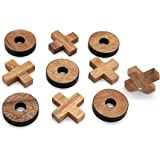 Tic Tac Toe Wood Coffee Tables Family Games to Play and a Classic Game Home Decor for Living Room Rustic Table Decor and Use