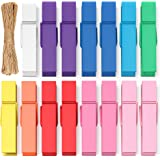 Mini Clothespins Clothes Pins Colored - Small Clothespins for Crafts Photos Wooden Paper Picture Clips Colorful Tiny Decorati