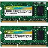 シリコンパワー ノートPC用メモリ DDR3 1600 PC3-12800 4GB×2枚 204Pin Mac 対応 永久保証 SP008GBSTU160N22