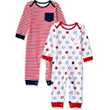 Amazon Essentials Baby 2-Pack Coverall, Uni