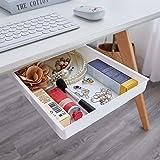 Boviagom Self-Adhesive Pop-Up Hidden Under Desk Drawer Under Desk Storage White 1Pack Extra Large Organizer for Home Office D