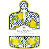 Le Cadeaux Palermo Melamine Cheese Board and Laguiole Cheese Knife Gift Set