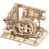 ROBOTIME 3D Wooden Model Kit Marble Run Toy Craft Model Building Set Best Christmas Gift for Adults & Kids Marble Squad