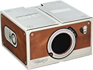 Smartphone Projector 2.0, Portable Phone Projector, Brown - Luckies of London