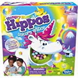 Hungry Hippos Unicorn Edition Board Game - Preschool Game for Kids - 2 to 4 Players - Kids Board Games and toys for girls, bo
