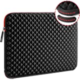 WIWU 17.3 Inch Diamond Laptop Sleeve Case with Water Repellent & Super Corner Protection Laptop Bag for MacBook Pro/Dell Insp