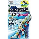 スリムウォーク (SLIM WALK) おやすみ美脚クール美尻スパッツ ライトブルー SMサイズ (Cool,Compression Open-toe Socks for Night, Tightish fit, Long type,Right Bl