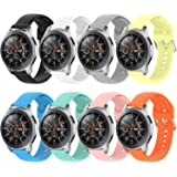 Vozehui Compatible with Fossil Gen 5 Carlyle/Julianna/Garrett/Carlyle HR Watch, Soft Silicone Adjustable Replacement Wristban