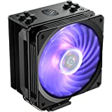 Cooler Master Hyper 212 RGB Black Edition CPU Cooler with Jet Black Nickel Plated Fins for Premium Aesthetic Appeal - Black -