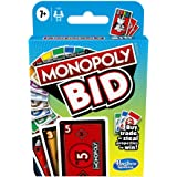 Hasbro F1699 Monopoly Bid Card Game – Quick Playing for 4 Players and Easy to Learn- Buy, Trade, or Steal Properties – Fun Fa