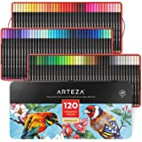 ARTEZA Fineliner Fine Point Pens, Set of 120 Fine Tip Markers with Color Numbers, 0.4Mm Tips, Ergonomic Barrels, Brilliant As
