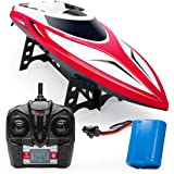 Force1 Velocity RC Boat - H102 RC Boat for Adults and Kids for Pools and Lakes, 20+ mph Speed, 4 Channel 2.4GHZ Remote Contro