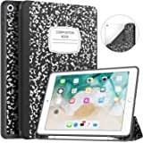 New iPad 9.7 2018/2017 Case with Pencil Holder, Soke Slim Fit Smart Case Trifold Stand with Shockproof Soft TPU Back Cover an