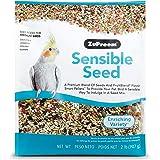ZuPreem Sensible Seed Bird Food for Medium Birds, 2 lb Bag - Premium Blend of Seeds, FruitBlend Pellets for Lovebirds, Quaker