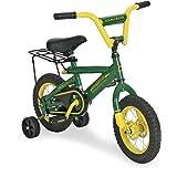 TOMY John Deere Heavy Duty Kids Steel Bicycle, 12-Inch, Green and Yellow