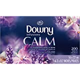 Downy Infusions Fabric Softener Dryer Sheets, Calm, Lavender & Vanilla Bean, 200 Count