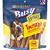Purina Busy with Beggin' Made in USA Facilities Small/Medium Breed Dog Treats, Twist'd - 6 ct. Pouch