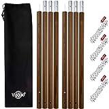 Viaggio+ タープポール テントポール 2本セット 収納ケース ロープ付 120-280cm Φ32mm アウトドア キャンプ