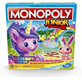 Monopoly Junior: Unicorn Edition - Magical-Themed Indoor Game - 2-4 Players – Kids Board Games and Toys for Girls, Boys - Age