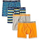Calvin Klein Boys' Modern Cotton Assorted Boxer Briefs Underwear, Multipack