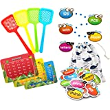 Sight Word Game Incentive Spot and Swat Splat 220 Dolch Plus Alphabet for Kindergarten Preschool with Word Charts & Storage B