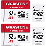Gigastone マイクロSDカード 32GB 2個セット, フルHD Camera Plus 2Pack, メモリーカード 90MB/s 高速 Full HD動画 Micro SDHC U1 C10 2 SDアダプタ付 2 ミニ収納ケース付
