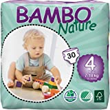 Bambo Nature Eco Friendly Baby Diapers Classic for Sensitive Skin, Size 4 (15-40 lbs), 30ct