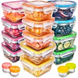 Food Storage Containers with Lids - Plastic Food Containers with Lids - Plastic Containers with Lids Storage (17 Pack) - Plas