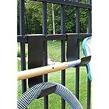 MIDE Products 1-10-BLK Slip-on Fence Hooks, Black, Pair