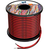 18 awg Silicone Electrical Wire 2 Conductor Parallel Wire line 60ft [Black 30ft Red 30ft] 18 Gauge Soft and Flexible Hook Up