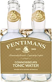 Fentimans Connoisseurs Tonic Water, Botanically Brewed, All Natural Ingredients, 4 Pack, 800 ml, Connoisseurs Tonic Water