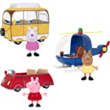 Peppa Pig Little Vehicle 3 Pack - Includes 3 Character Toy Figures Like Suzy Sheep and Pedro Pony, Plus Red Car, Campervan an